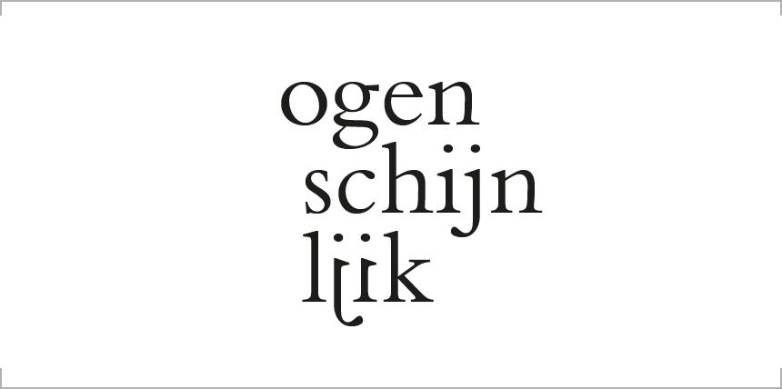 """Typografie voor het boekomslag van de artist edition """"ogenschijnlijk"""". Klik om de afbeelding groter weer te geven."""