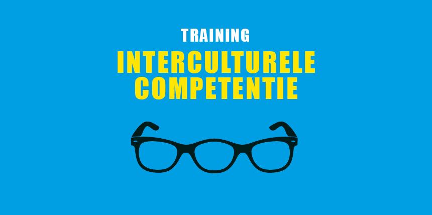 """Omslagontwerp voor de brochure """"Training Interculturele Competentie"""". Klik om de afbeelding groter weer te geven."""