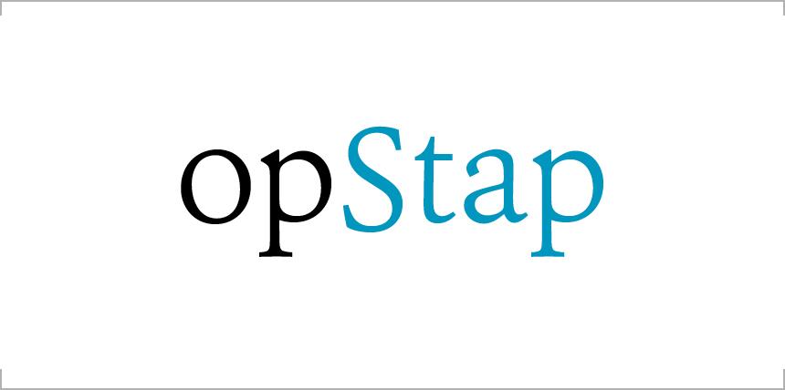 """Logo en typografie voor het boekomslag van de Microsoft Word-brochure """"op Stap"""". Klik om de afbeelding groter weer te geven."""