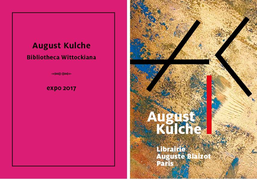 Ontwerpen van boekomslagen voor August Kulche. Klik om de catalogi te doorbladeren.
