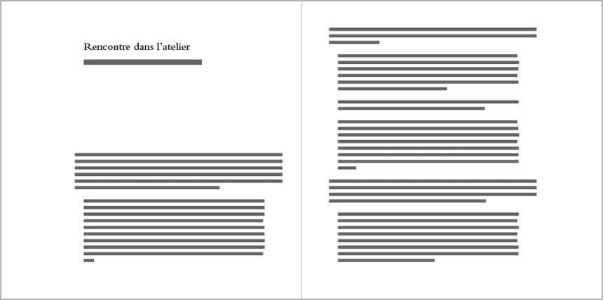 """Bladspiegel """"études typographiques"""". Klik om deze artist edition te doorbladeren."""