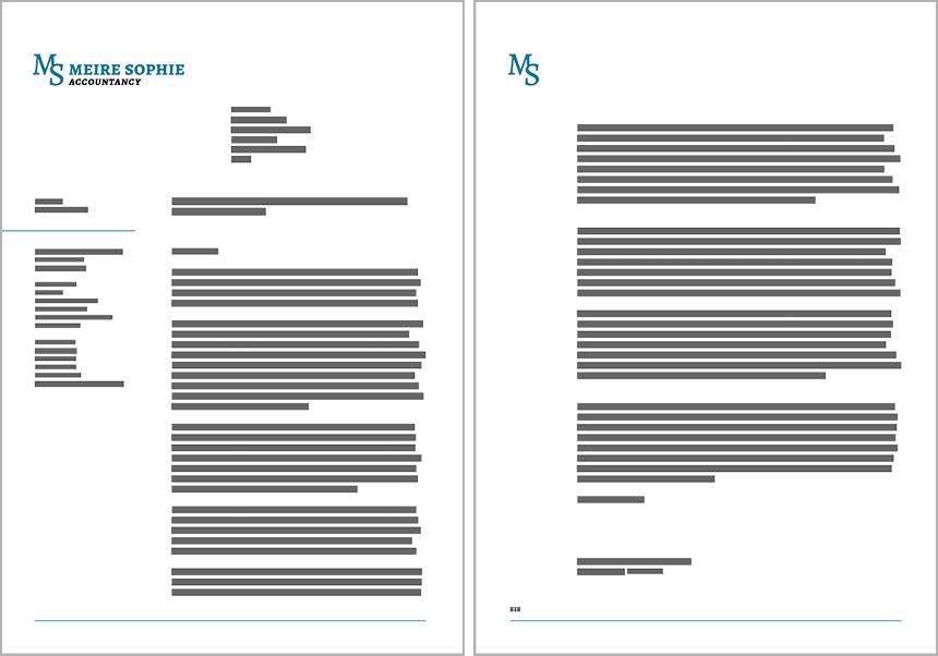 Bladspiegel brief. Klik om de brief- en rapport-sjablonen voor Microsoft Word te bekijken.