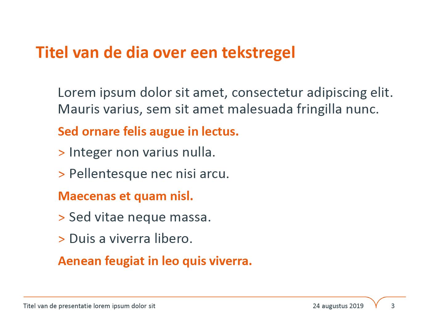 """Dia-type """"Basisdia"""", gepersonaliseerd voor de submerken van het basisonderwijs. Powerpoint-sjabloon van de Stad Gent."""