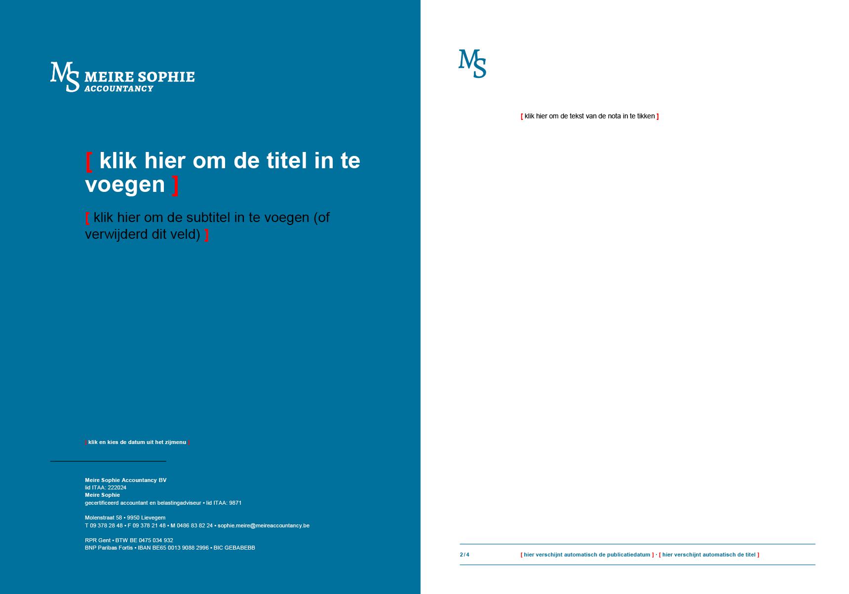 Rapport-sjabloon voor Microsoft Word, met blanco invulvelden